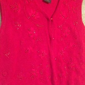 Knit Embroidered Christmas Sweater Vest